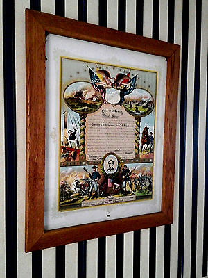 """Civil War Union  Army Soldier  """"certificate Of Discharge"""" Original"""