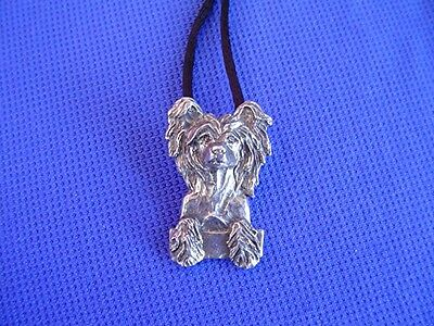 Chinese Crested necklace pewter #22N Toy Dog Jewelry by Cindy A. Conter