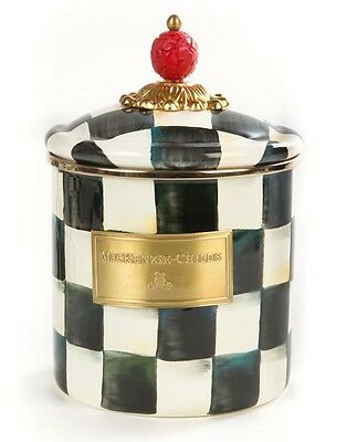 MacKenzie-Childs Courtly Check Enamel Canister - Small
