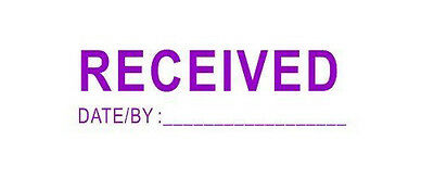 RECEIVED with Date or By self inking stock stamp - 9011 - (PURPLE)