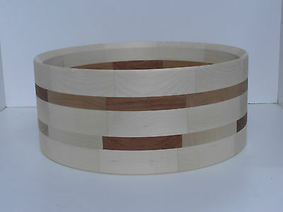 """Segment Shell Wood Maple and Multiwood 14"""" x 6""""    10mm"""