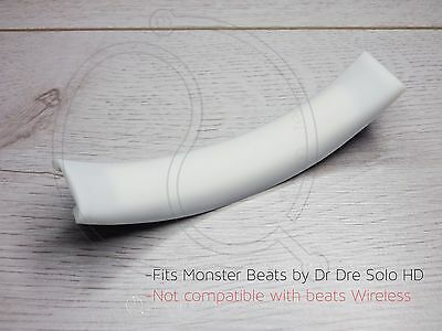 White Rubber Cushion For Monster Beats Dr Dre Solo HD replacement Top Headband