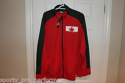 Nike Team Canada IIHF Speed Knit Jacket Olympic BNWT Mens Large Authentic