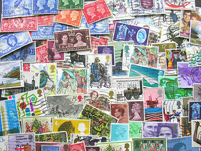 GB Kiloware off paper 30 grams USED mostly QEII some  KGVI