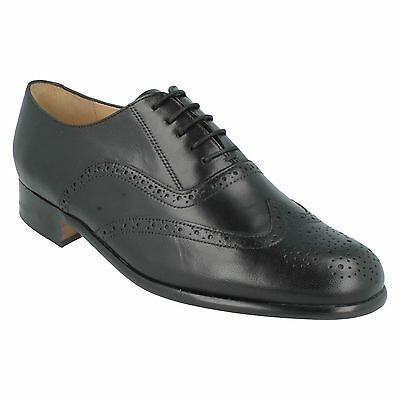 STRINGATE IN PELLE da Uomo Nero Grenson Scarpe Brogue Euston
