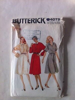 Butterick 4079 Vintage Sewing Pattern Ladies Dress Size 10