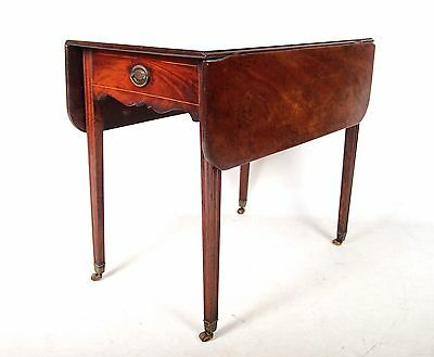Antique Pembroke Table Victorian Drop Leaf Sofa Table Inlaid Mahogany 19th Centu