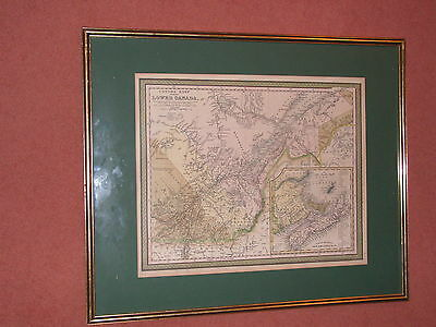 Antique Map Of Canada East By Samuel Augustus Mitchell 1848