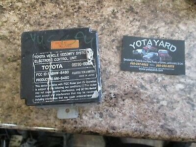 90 91 92 93 94 95 Toyota 4 Runner Security Control Module 08190-00850 Yota Yard