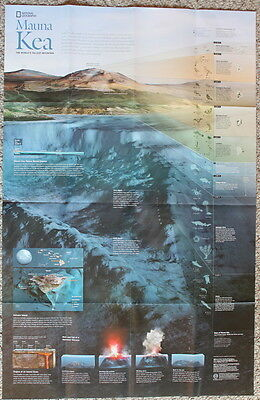 Beneath the Oceans / Mauna Kea  National Geographic Map / Poster July 2012