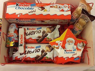 Kinder Chocolate Christmas hamper/ present With *NEW* Hanging tree Decoration