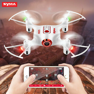 RTF Mini Drone SYMA X21W RC Quadcopter Wifi HD Camera 2 Mode Transmitter White