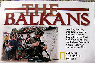 The Balkans / Plight of Refugees National Geographic Map / Poster February 2000