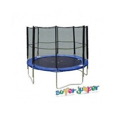 Trampoline Combo with Enclosure 10' Jumping Fun Spring Zinc Plated Steel