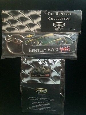 The Bentley Collection Keychain and Pin Set