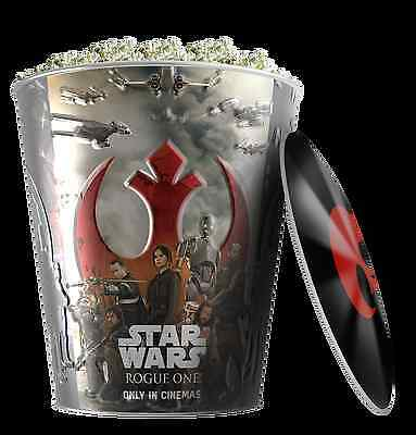 Star Wars: Rogue One Movie Theater Exclusive 130 oz Metal Popcorn Tin W/Lid #1