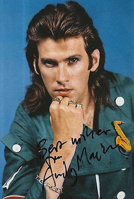 Andy Mackay Hand Signed 12x8 Photo Roxy Music 1.
