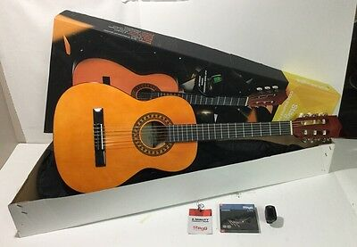 NEW Stagg C530 3/4 Classical Guitar Starter Pack w/Strings - Gig Bag - Chromatic