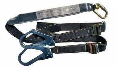 Safety Harness Lanyard Miller Twin Adjustable Length Fall Arrest Prevention New