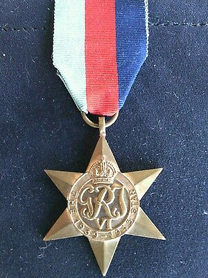 Campaign Medal 1939 - 1945 Star & Ribbon Original British Second World War Navy