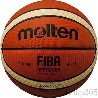 "Molten GM7X FIBA Approved Indoor/Outdoor Basketball Official 29.5"" 2016 Model"