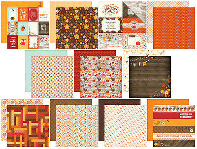 Echo Park The Story of Fall Scrapbook Paper 11 Shts Autumn 12x12 Double Sided