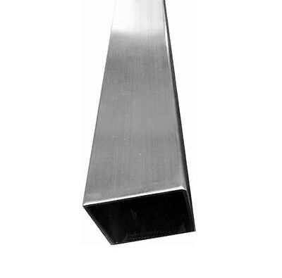 "T316 Stainless Steel Square Tube Post 2"" x 2"" x 42"" Railing Intermediate Tubing"