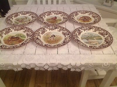 "Set of 6 Spode Woodland 10.5""Dinner Plates(Boxed)"