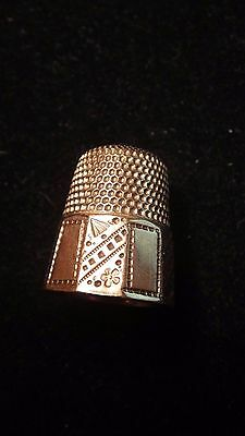 Heavy Gold Plated Thimble - Size 10
