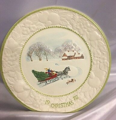 """Christmas Plate """"Songs Of Christmas 1972"""" Vernonware Limited Edition"""
