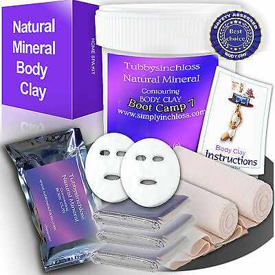 contouring body wrap bandages plus inch loss body clay in  kit free sauna wraps