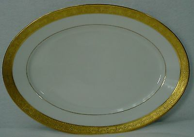 """ROSENTHAL china PICKARD pic67 pattern OVAL MEAT Serving PLATTER 12-3/8"""""""