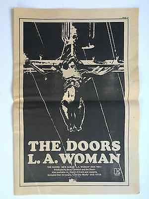 "The Doors 1971 Original 11X17"" ""L.A. WOMAN"" LP Promo Ad Excellent Condition"