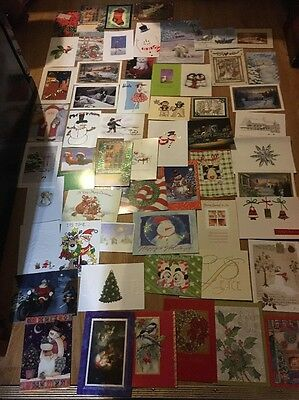 Lot Of 50 Used Christmas Cards Crafts Activities