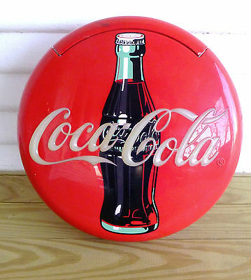 Vintage Coca Cola Advertising Sign Telephone in Advertising Button Motif