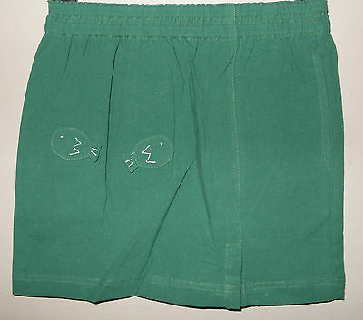 New 100% Cotton Girls Skirt Green Size Age Large L 8-10 Years