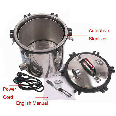 Top stainless steel Dental Autoclave Steam Sterilizer Pressure Sterilization 18L