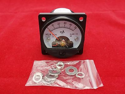 1PC DC 0-50MA Analog Ammeter Panel AMP Current Meter SO45 Cutout 45mm