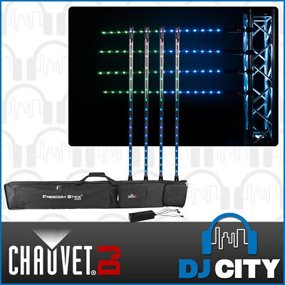 Chauvet DJ Freedom Stick Pack Wireless Pixel Bar Set Battery Powered (4 Pack)