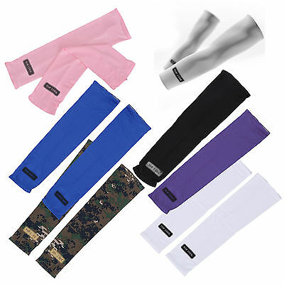Sport Skin Arm Sleeve Cooling UV Cover Sun protective Stretch Armband LW