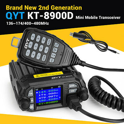 QYT Updated KT8900D Quadstandby Amateur Car/Truck Mobile Radio 25W+Speaker+Cable