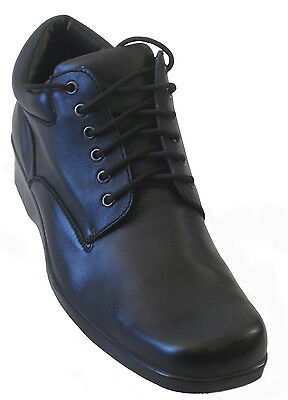 Ladies Leather Non Safety Lace Up Casual/Work Shoe Size 10 Black NEW!