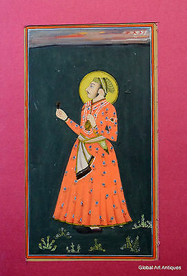 Rare Hand Painted Fine Decorative Collectible Indian Miniature Painting. G77-6