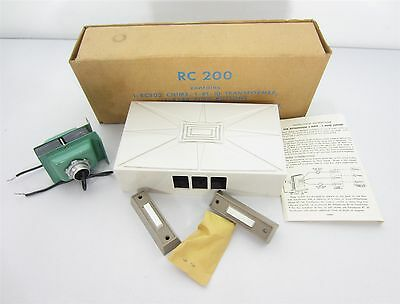 Vtg. Emerson Electric Doorbell Chime Mid Century RC 200 Kit  Push Button NOS