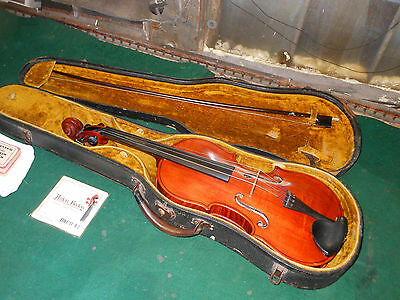1940's BEAUTIFUL ANTIQUE GIBSON VIOLIN WITH GORGEOUS WOODEN CASE & BOW