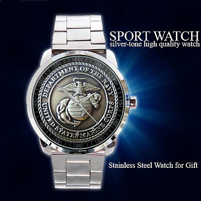 United States Marine Corps Coin Sport Metal Watch