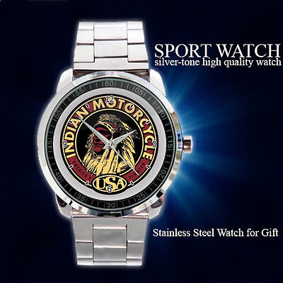 INDIAN SCOUT CLASSIC LOGO Sport Metal Watch
