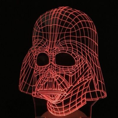 Darth Vader Star Wars Led Lamp Night Light The Last Jedi R2d2