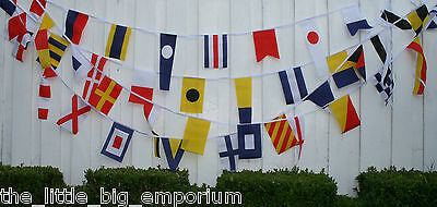 40 Nautical Flag 13 Metres Decoration Sailing Boat Yacht Bunting String Flags