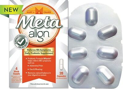 ~ Meta Align Probiotic Supplement Ibs Relief Symptoms Digestive Care Choose Caps